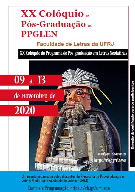 XX Colóquio de Pós-graduação do PPGLEN – 09 a 13 de novembro de 2020